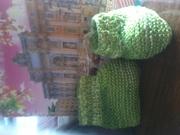 Продаю вязание тонкие пинетки,  царапки(несколько видов)