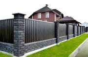 Строим забор из кирпича и блока
